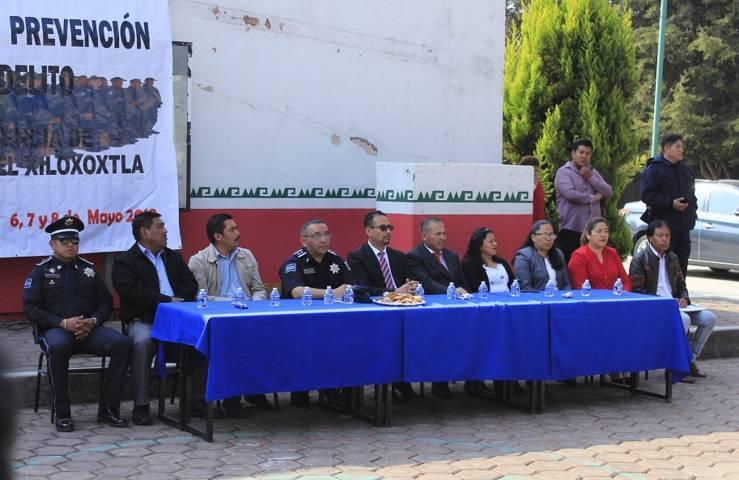 Alcalde de Xiloxoxtla pone en marcha la Semana de Prevención del Delito