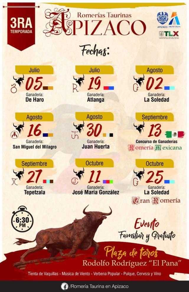 Tercera Temporada de Romerías Taurinas, la fiesta más esperada en Apizaco