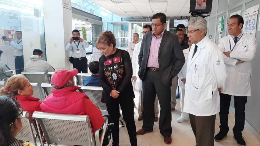 Recorre Cuéllar Cisneros el Hospital General del ISSSTE