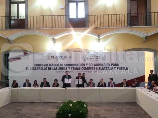 Puebla y Tlaxcala trabajarán en unidad por un beneficio común