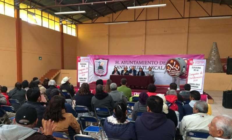 Ayuntamiento de Santa Cruz Tlaxcala entregó 44 escrituras
