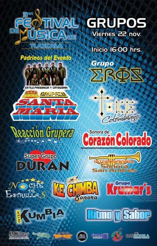 Alistan tercer Festival de Música de Tlaxcala en Contla De Juan Cuamatzi