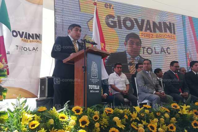 Mejoraremos lo ya logrado para que Totolac siga creciendo: Giovanni Pérez