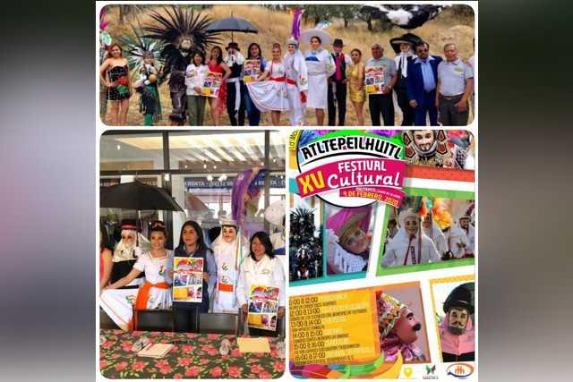 Inician Carnavales en Tlaxcala, presentan XV Festival Cultural Atltepeilhuitl en Papalotla