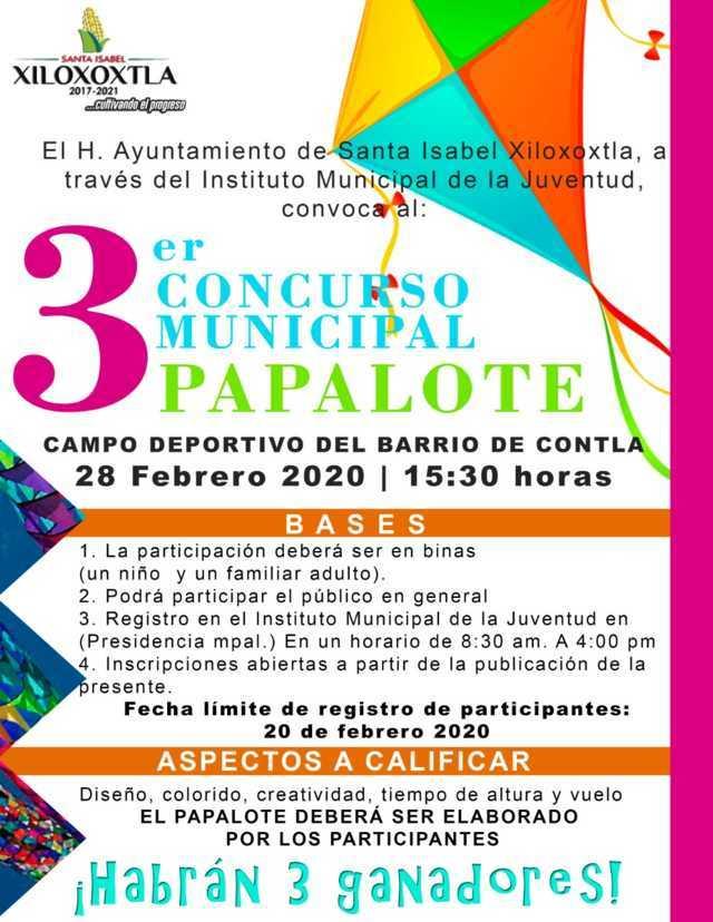 Alista Xiloxoxtla 3er Concurso Municipal del Papalote