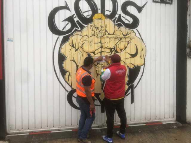 Clausuran bar y gimnasio que operaban pesé a contingencia en Chiautempan