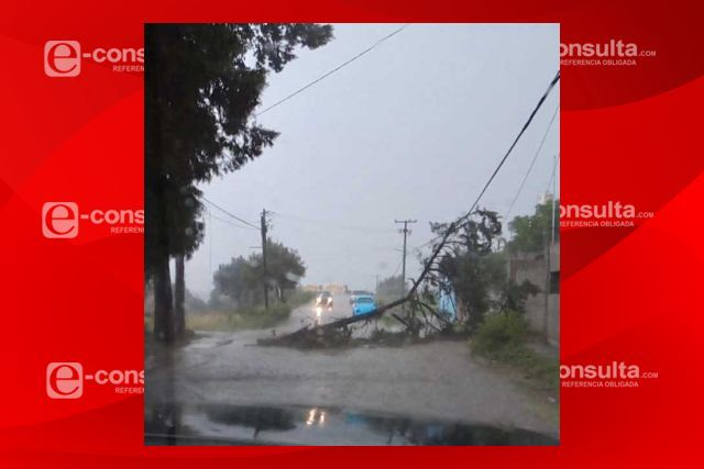 Activa Anabell Ávalos operativo de supervisión ante fuerte lluvia