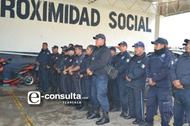 Policías de Tzompantepec contarán con un seguro por el riesgo ante el Covid