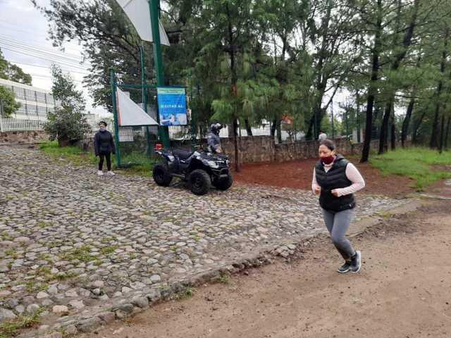 Verifican autoridades capitalinas medidas de sanidad en Parque La Ocotera