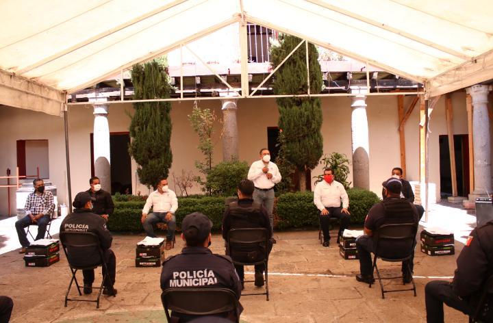 Policías capacitados y equipados dan mejor resultados; Hėctor Domínguez
