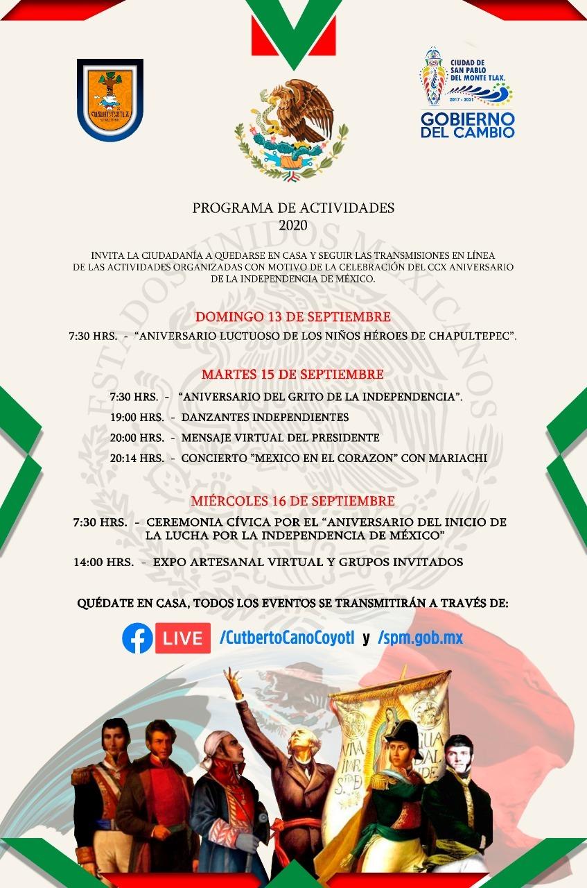 Cutberto Cano realizará el Grito de Independencia de forma virtual en SPM