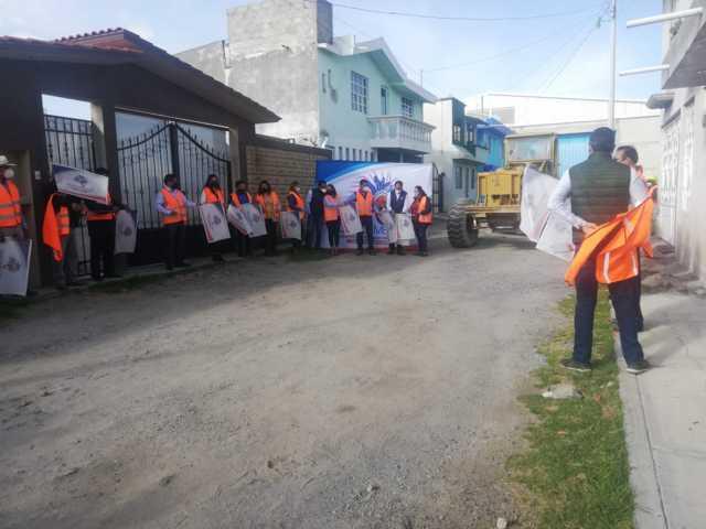 Francisco Villarreal inicia obra en San Benito Xaltocan