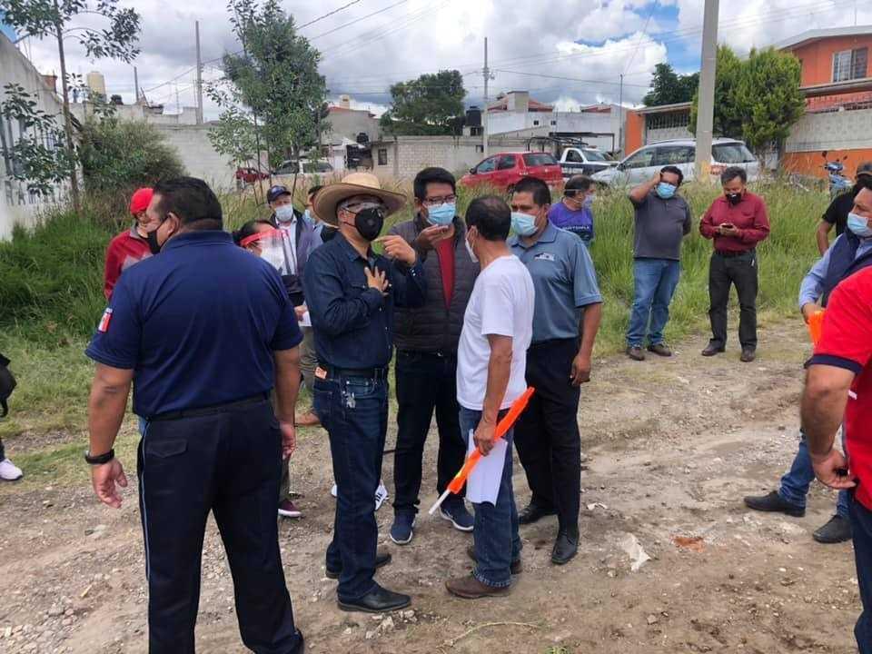 Inicia pavimentación de la calle Francisco I. Madero en Papalotla