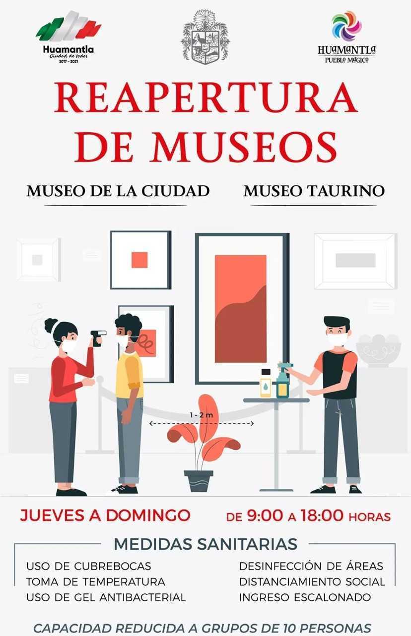 Reabren museos en Huamantla bajo la nueva normalidad