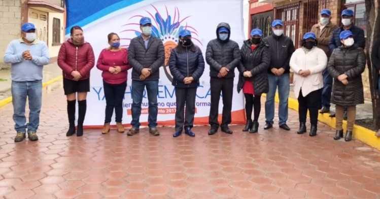 Villarreal Chairez entrega 600 metros de pavimento en San José Tetel