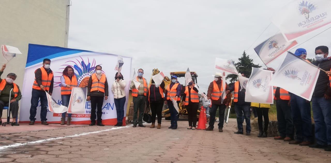 Villarreal Chairez cierra septiembre con obras públicas en Ocotoxco y San Benito