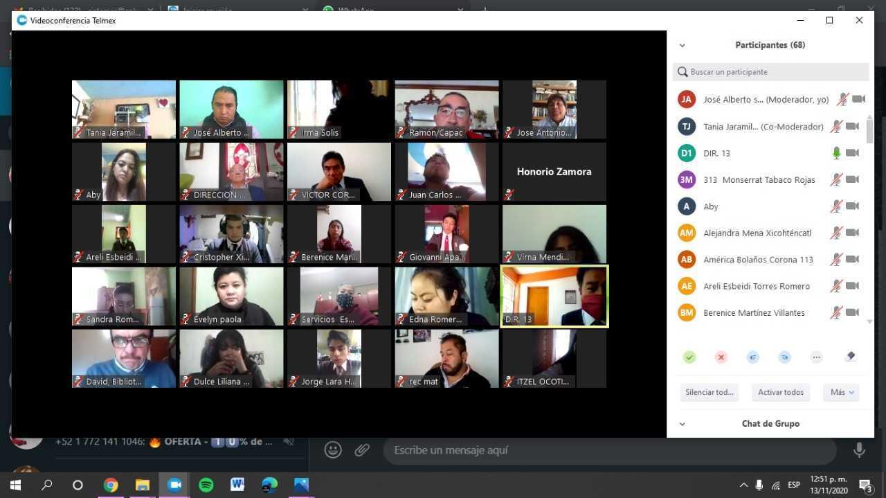Director General del COBAT-TBC presidió reuniones virtuales con los planteles.