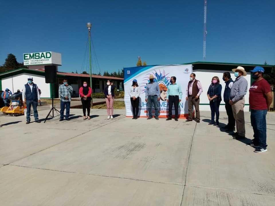 Villarreal Chairez puso en marcha la techumbre para el plantel EMSAD