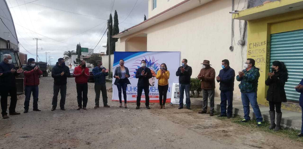 Villarreal pone en marcha trabajos de pavimentación en la calle 21 de octubre