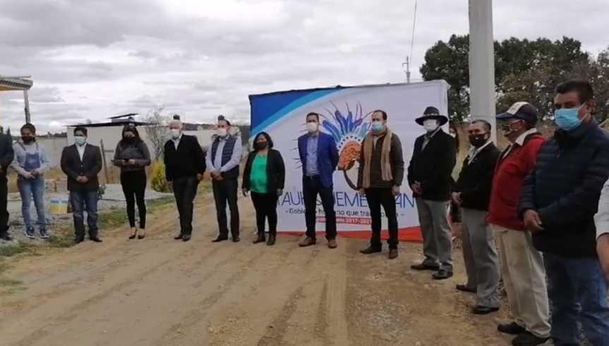 Inauguración de electrificación en San Benito Xaltocan