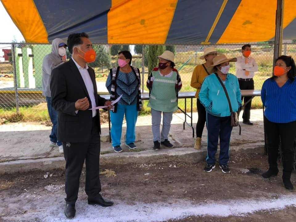 Siguen las acciones de mejoramiento en Papalotla; se ejecuta obra en Tenantitla