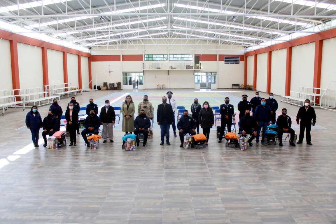 Reconocen la ardua labor de los policías municipales de Xiloxoxtla
