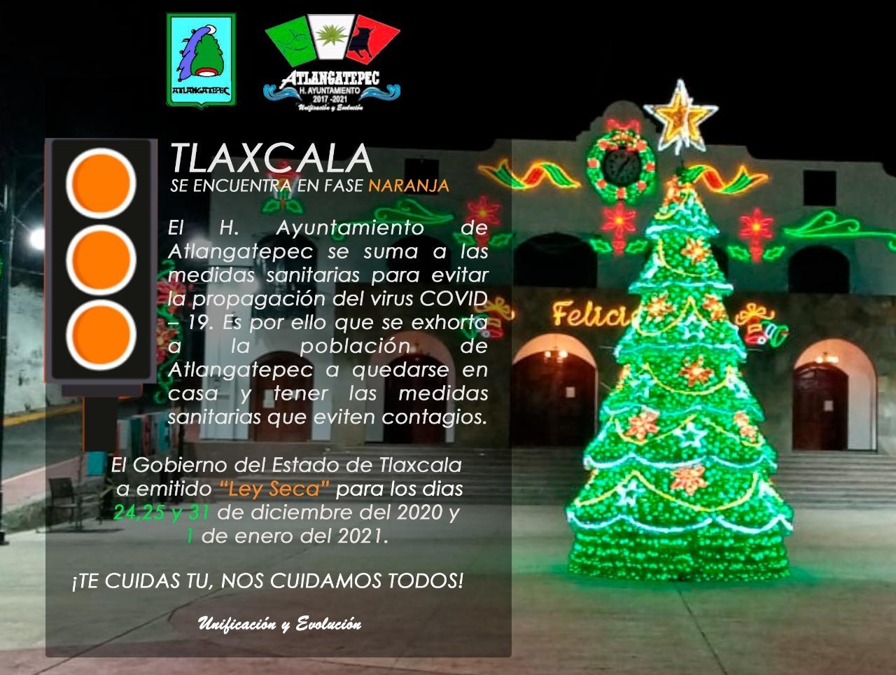 Prevenir el Covid durante las fiestas navideñas, insisten en Atlangatepec