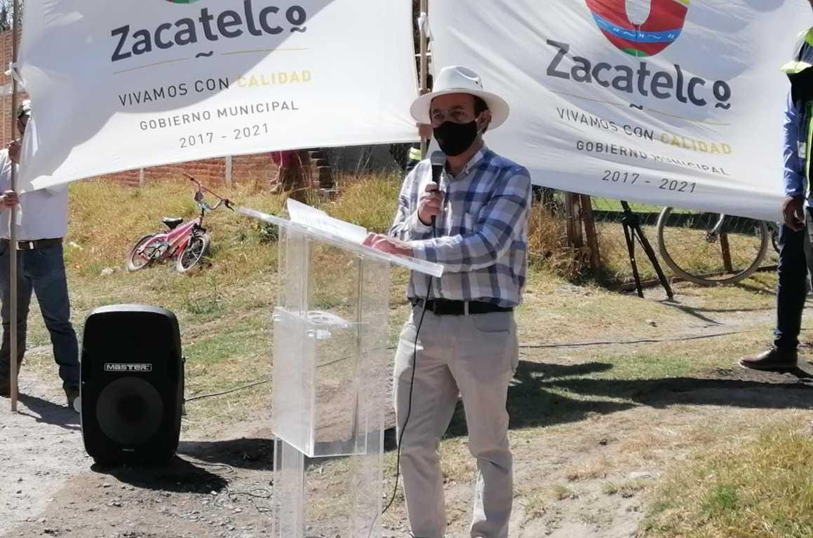 Tomás Orea inicia la construcción de un puente vehicular en Zacatelco