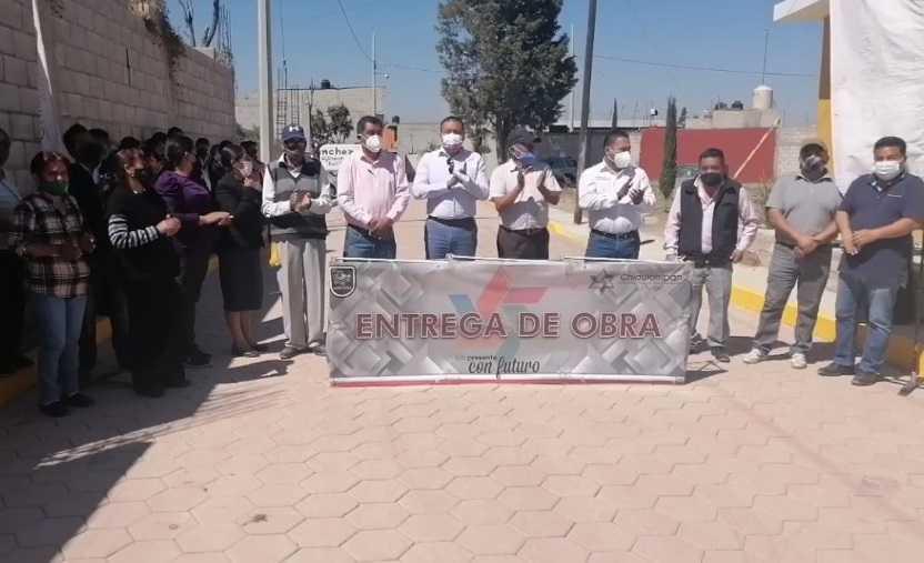 Héctor Domínguez inaugura obra en Texcacoac