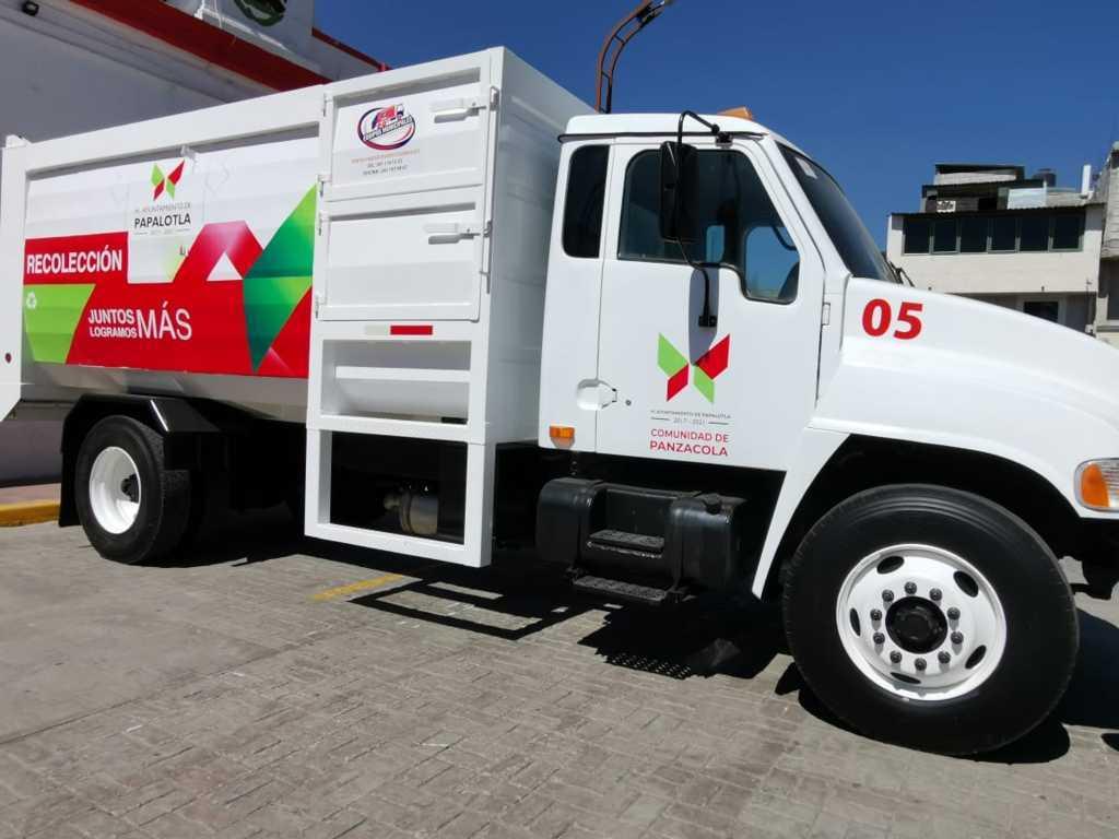En marcha camión compactador para mejorar la recolección en Papalotla
