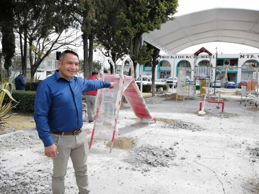 Quilehtla se ha transformado a través de la gestión de obras, dice Oscar Cabrito