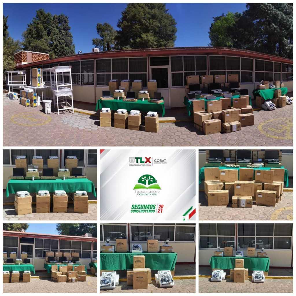 Beneficia COBAT-TBC con mobiliario y equipo al plantel 02 Huamantla