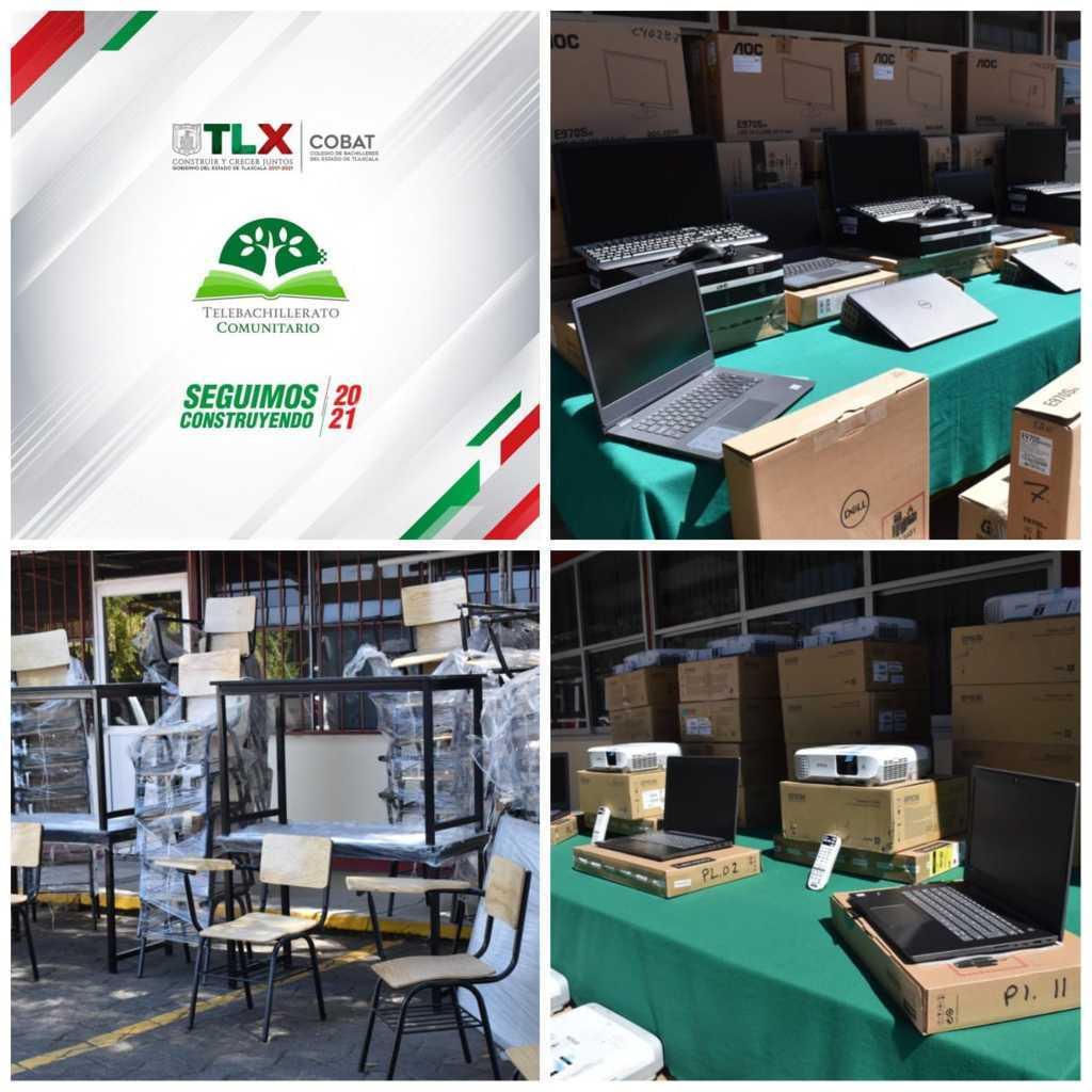 Destina COBAT-TBC mobiliario y equipamiento para el plantel 11 ubicado en el municipio de Panotla