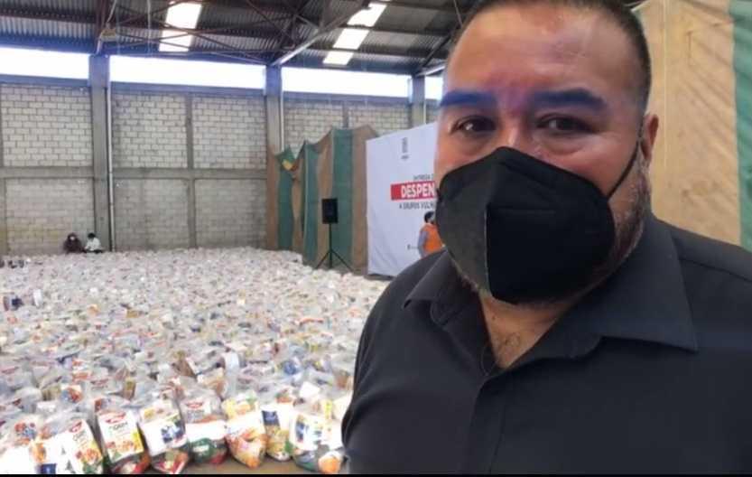 José Isabel Badillo entrega mil 500 despensas en Xicohtzinco
