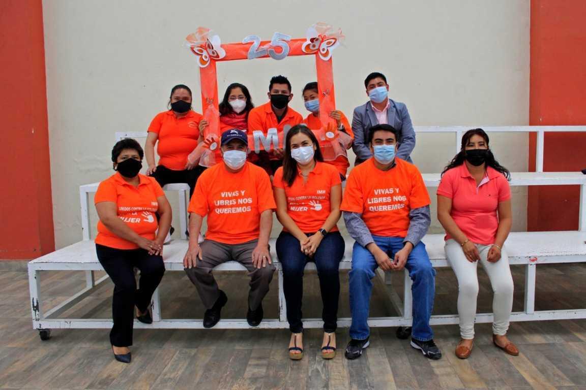 En Xiloxoxtla el 25 de cada mes se conmemora el Día Naranja