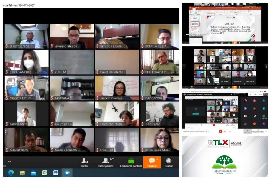 Realiza COBAT-TBC reuniones virtuales de seguimiento académico del semestre 2021-A