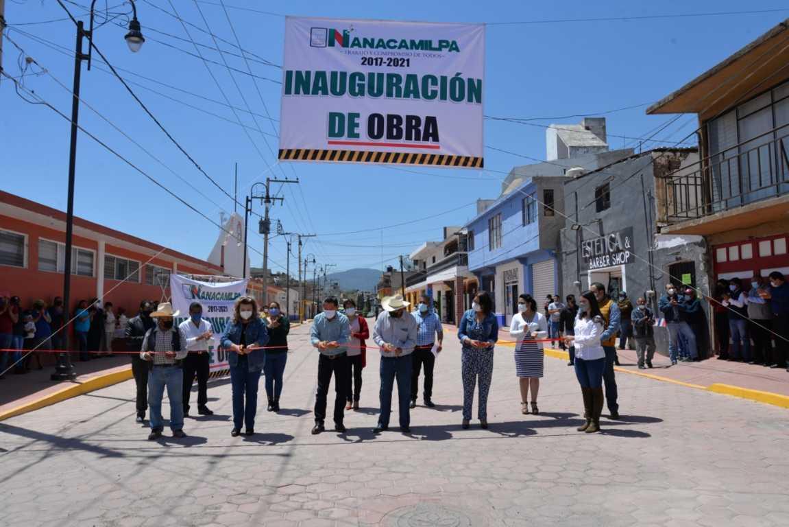 Víctor Hugo sigue entregando obras de impacto en Nanacamilpa