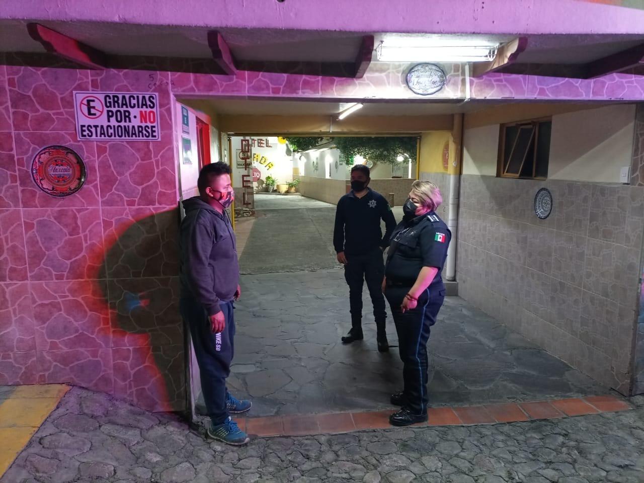 Policía de Totolac evita el asalto a un hotel durante un recorrido de vigilancia