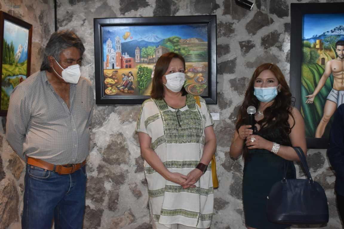 Inaugura Orea Albarrán exposición temporal de la artista Guadalupe Xicohténcatl