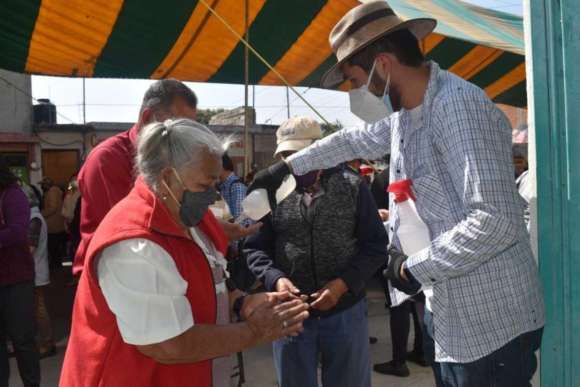 Zacatelco sigue cuidando las medidas sanitarias contra Covid-19