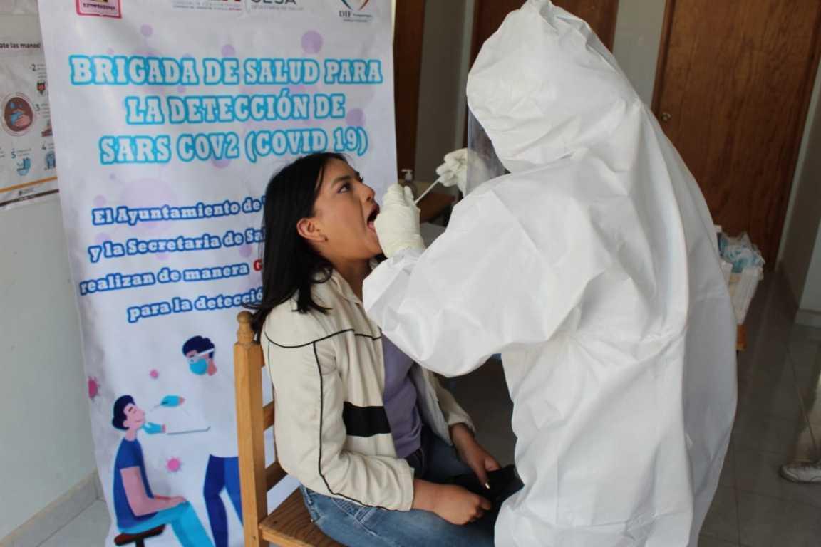 Sigue la aplicación de pruebas Covid – 19 en Tzompantepec