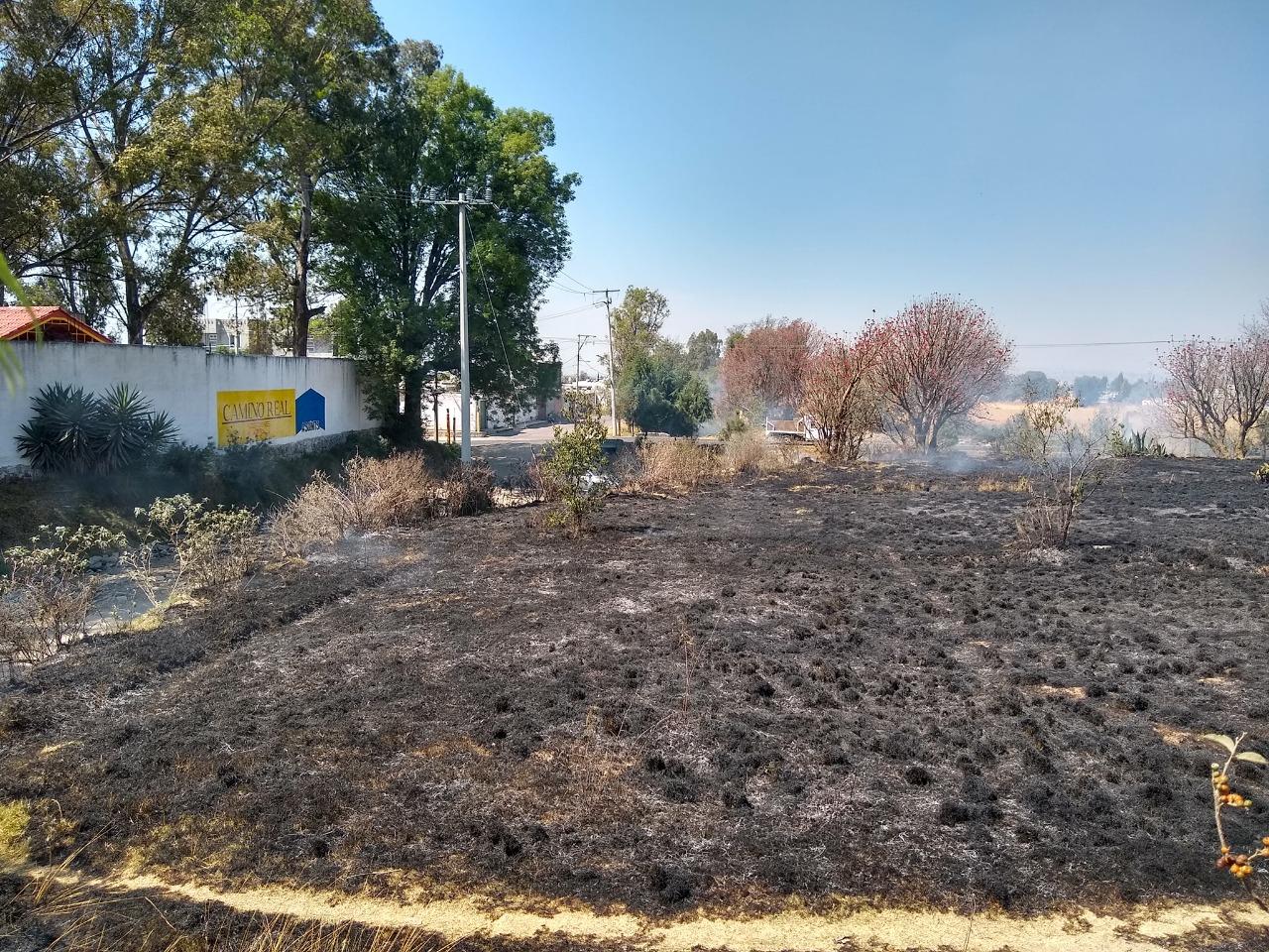 Ayuntamiento de Quilehtla pide evitar la quema de pastizales