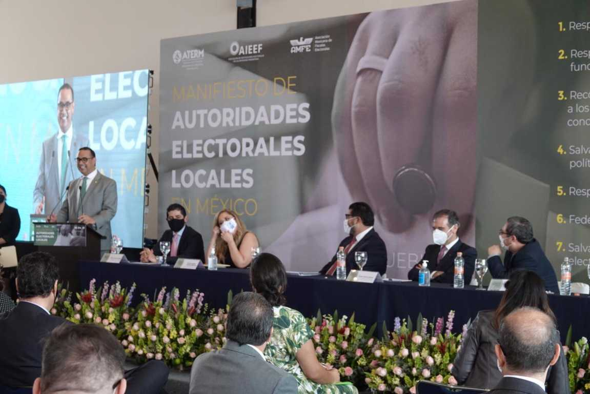 Firma TET el Manifiesto Nacional de Autoridades Electorales Locales