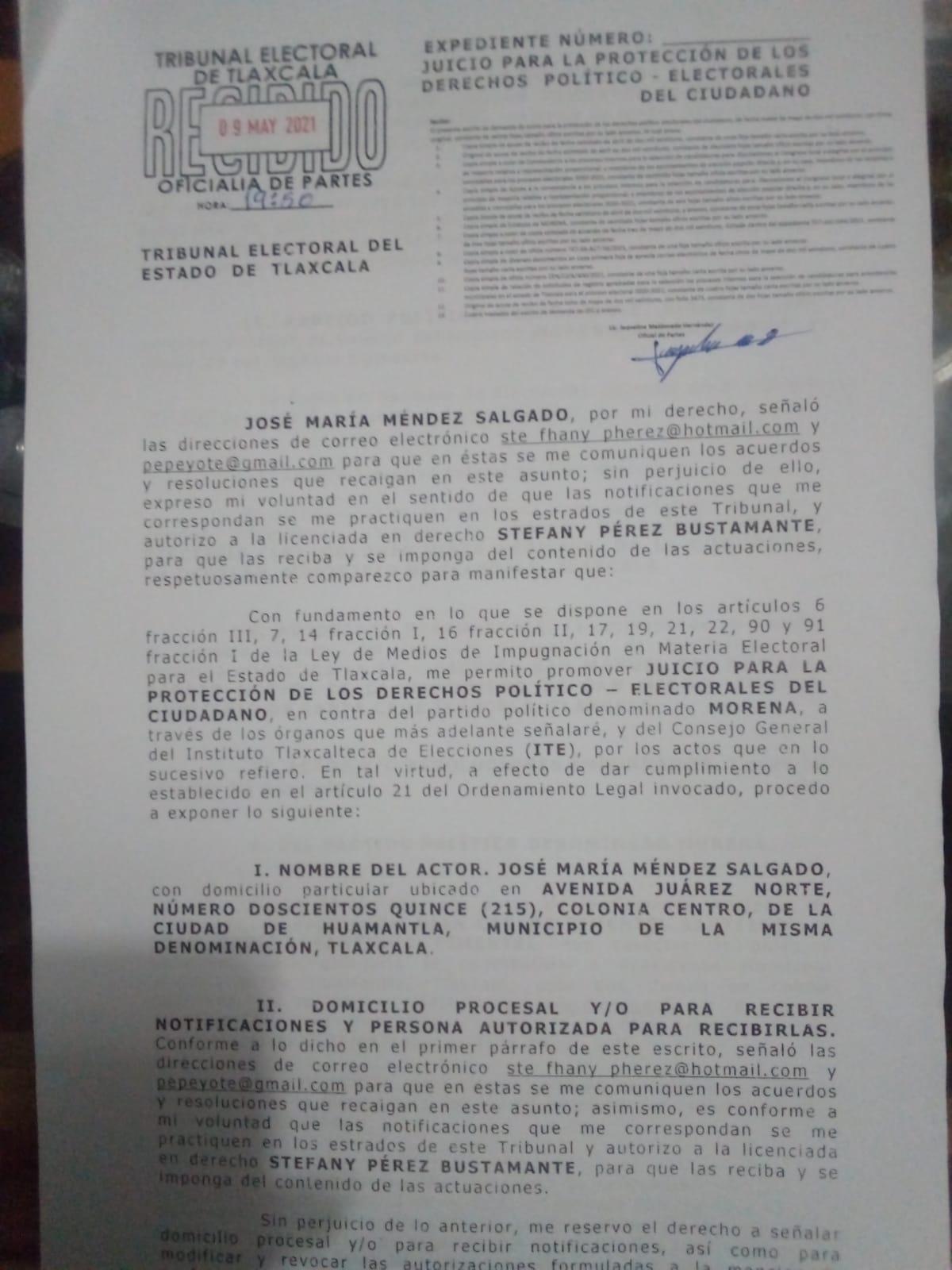 Insisten en echar abajo la candidatura del poblano Carlos Santiago Pimentel