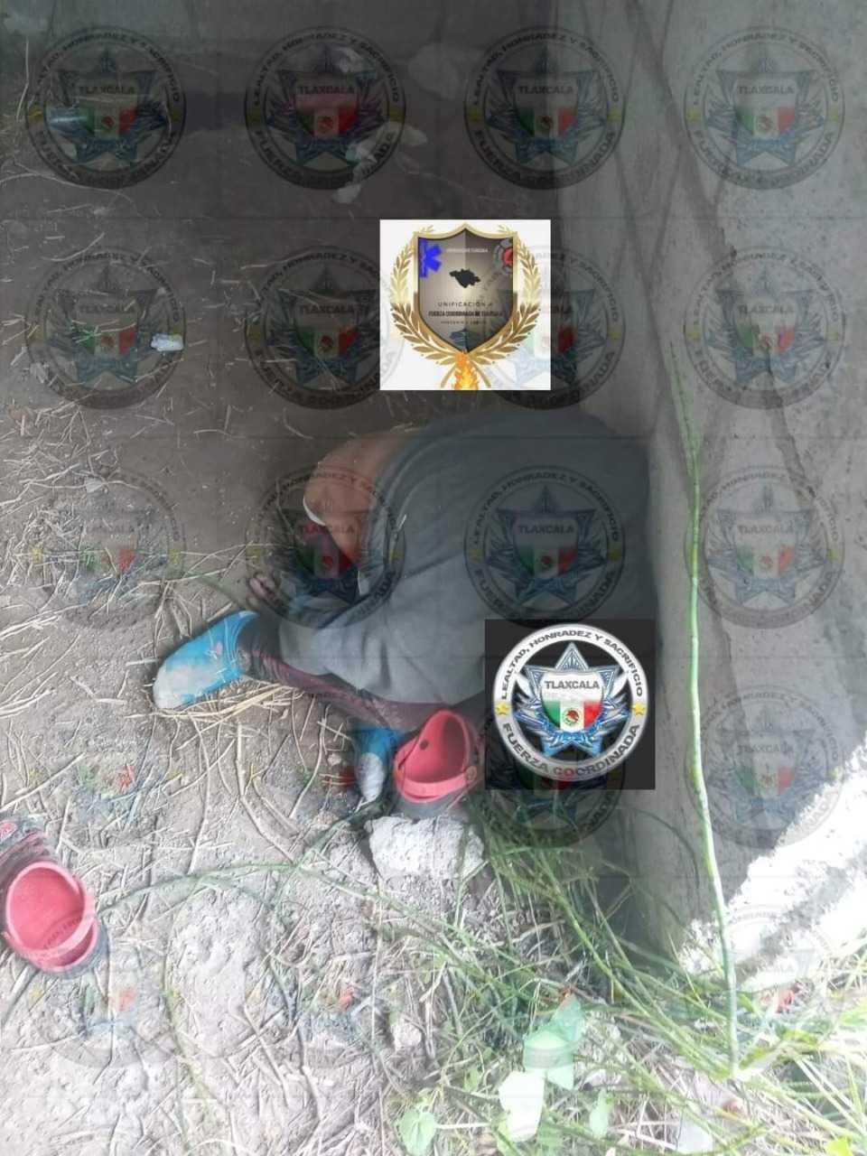 Localizan a un masculino muerto al interior de una construcción en Zacatelco