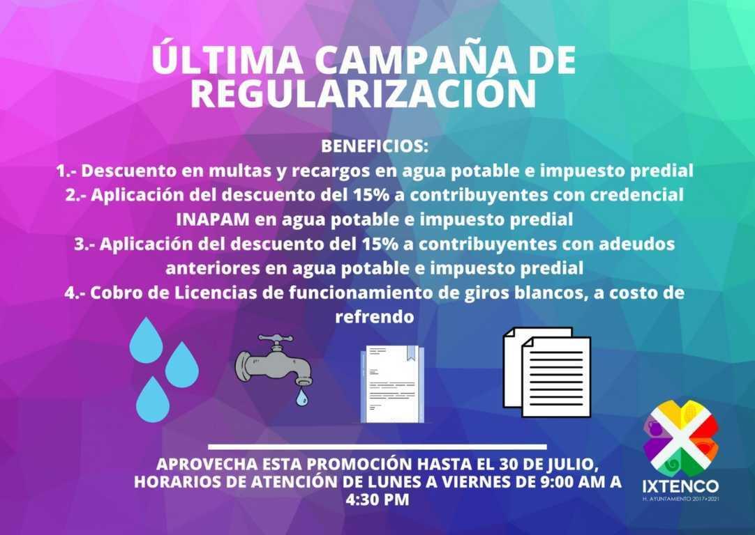 En Ixtenco anuncian última campaña de descuento en pago de agua potable