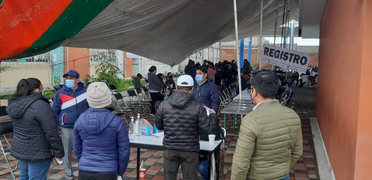 Sin contratiempos se aplicó la vacuna 40-49 en San Pablo del Monte