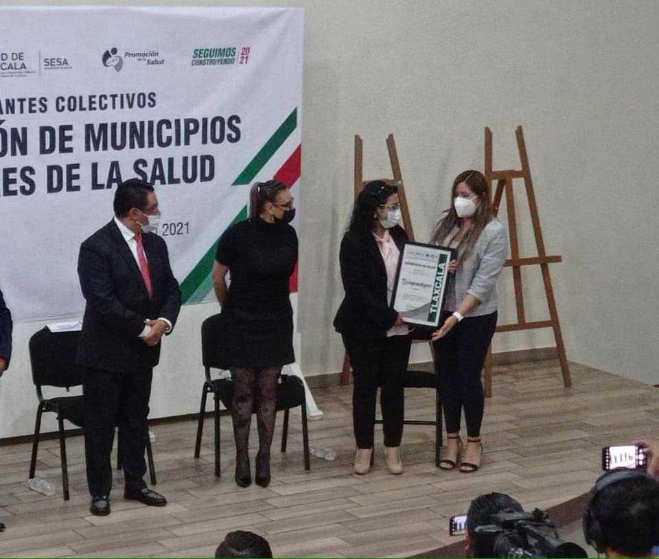 Tzompantepec participa en la certificación de municipios promotores de la salud