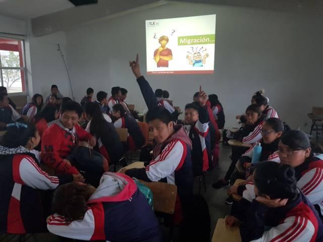Coordinan Cobat y Dirección de Atención a Migrantes campaña para inhibir abandono escolar