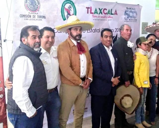 Presentan Campeonato Estatal Charro 2019 celebra Tlaxcala 500 Años a Caballo